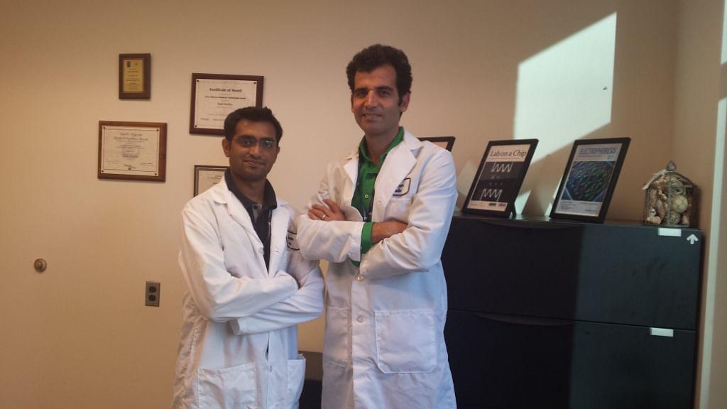 Khetani (left) with the research head Hadi Shafiee.