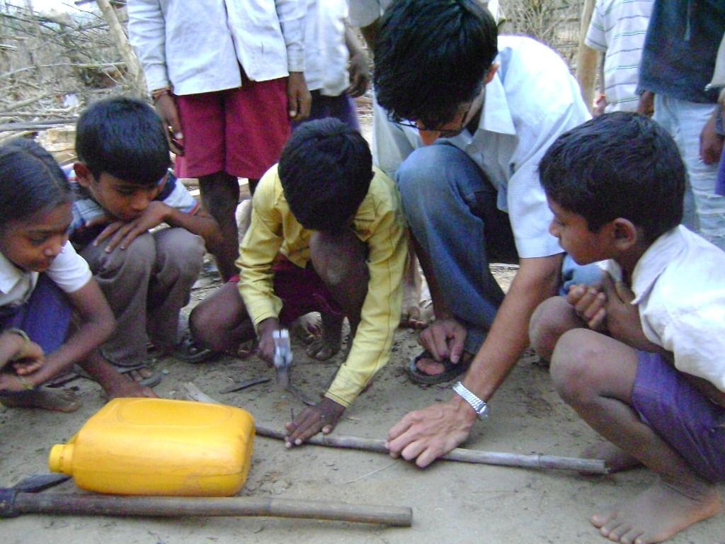 Pawan and kids build Nirman together