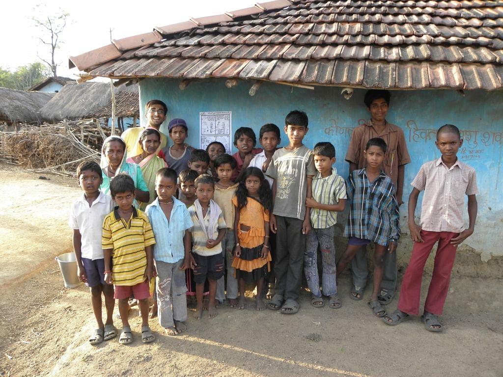 Dr. Pawan with the community members of Gadchiroli village.