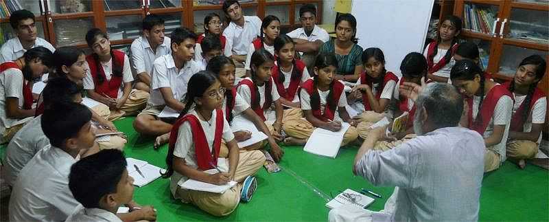A regular session on current affairs keeps the students up to date with latest happenings.