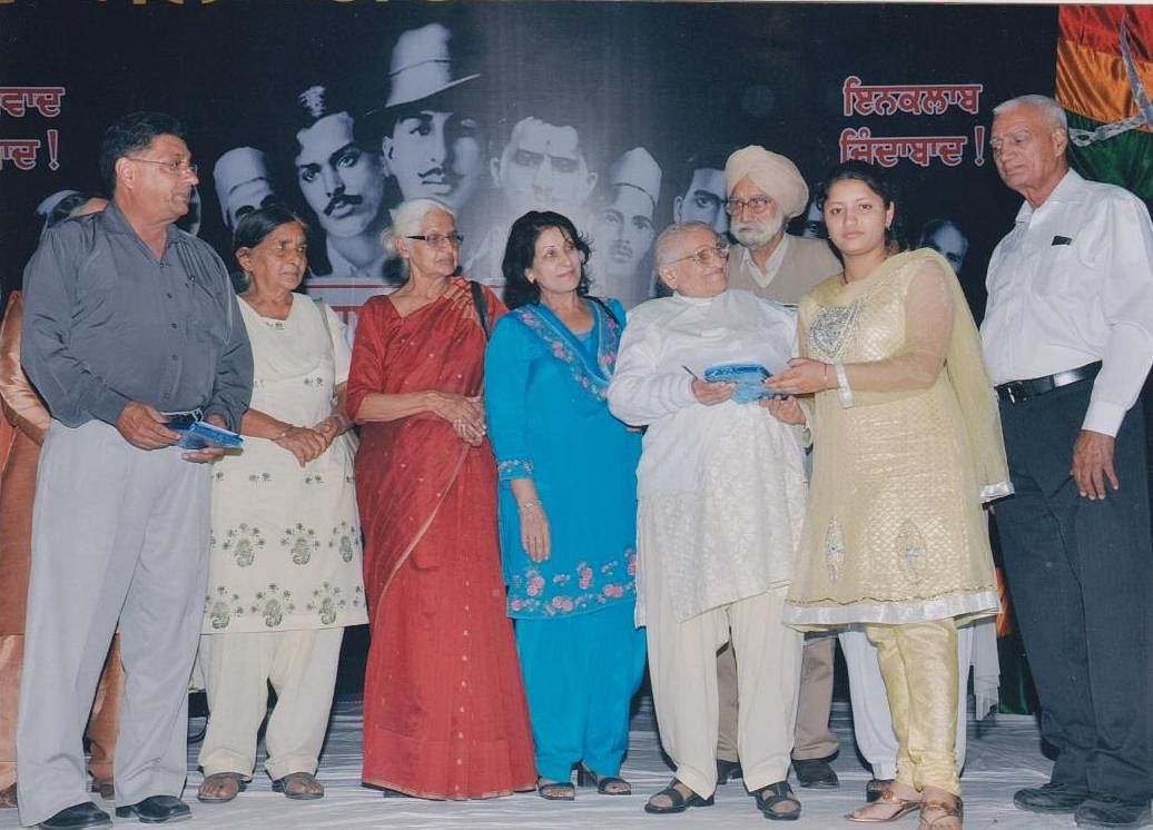 Sushila Trehen Chain (in white, center) spent her entire life serving the nation.