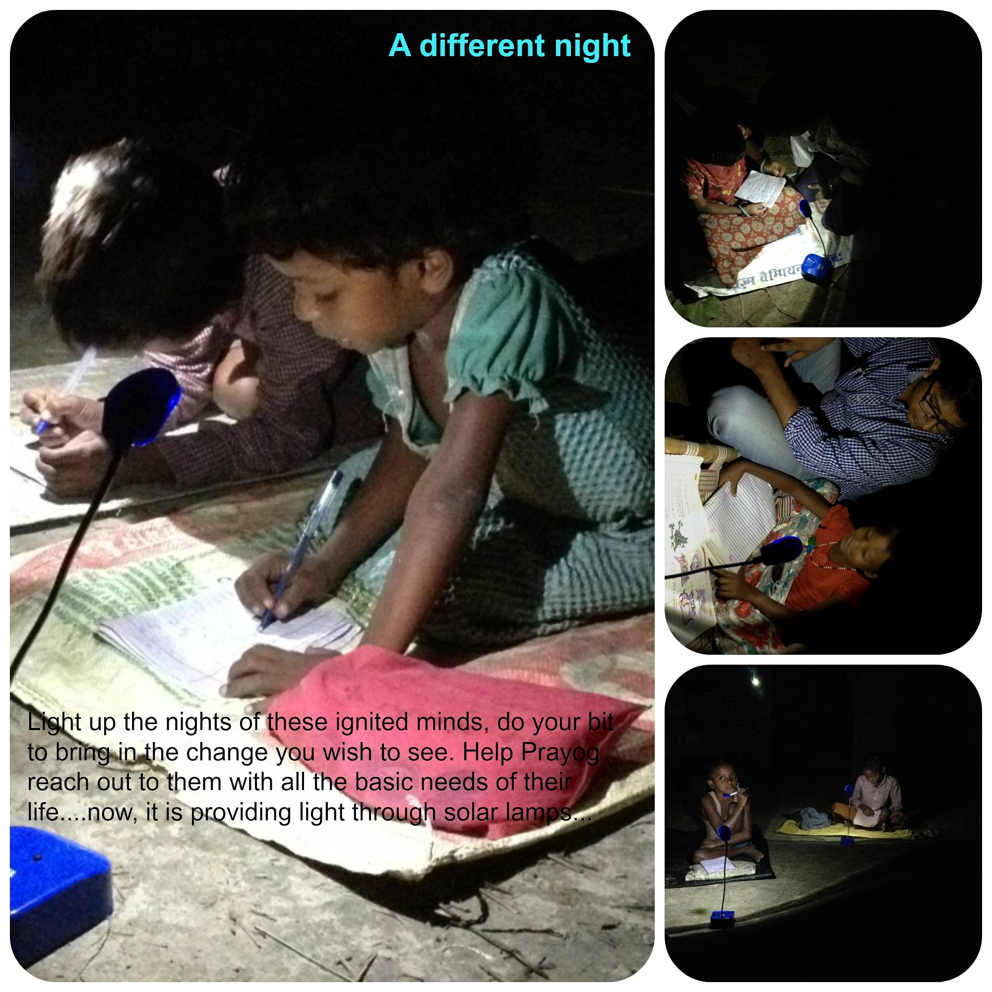 Surya Prakash is looking for funds to provide solar lamps to the village children.