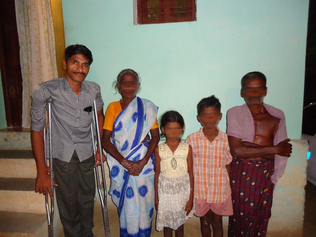 Children with relatives.