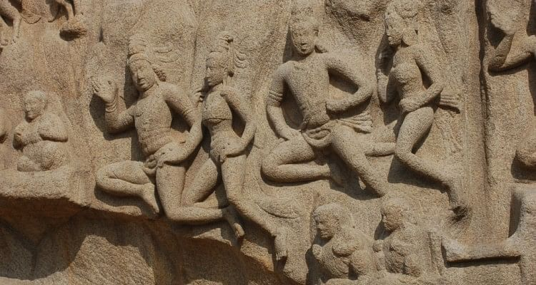Arjuna's Penance: a detail