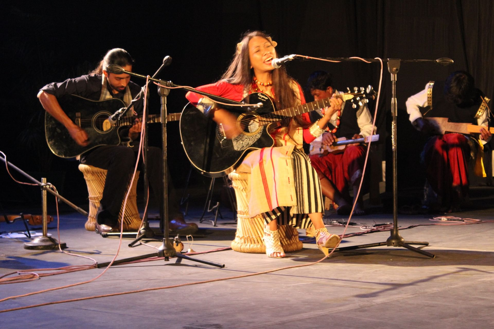 Rida Gatphoh, 30, is founder, songwriter and lead singer of 'The Musical Folks'. (Ninglun Hanghal\WFS)