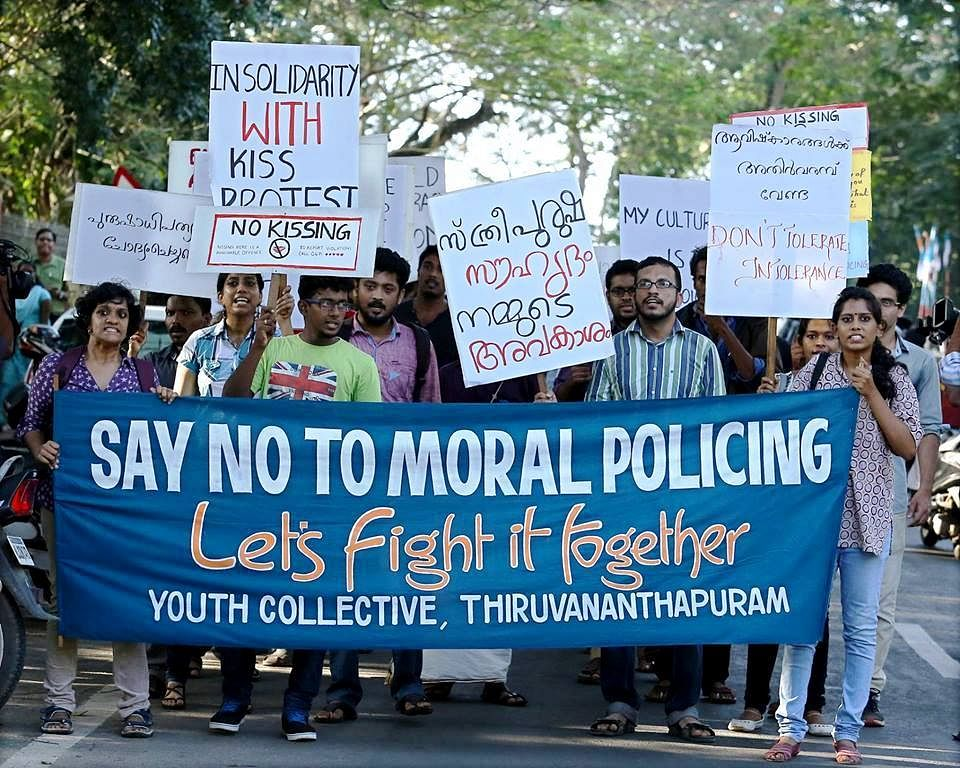 A sudden upheaval among the quiet youth of Kerala has been triggered by pent up frustration against repeated incidents of violence and bullying against those who 'dared' to be 'liberal'. (Credit: KOL Campaign)