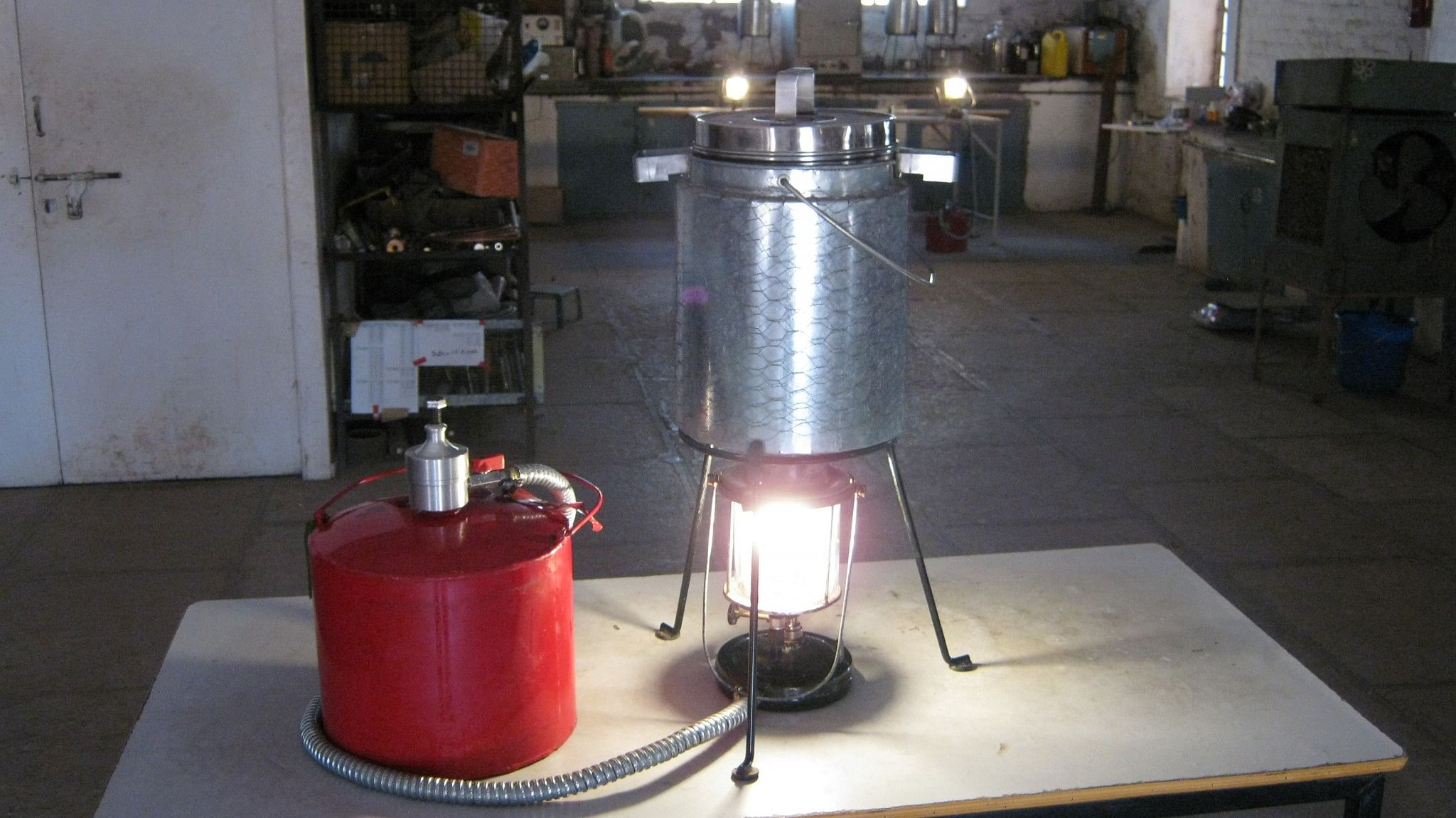 Lanstove- a lamp and also a stove.