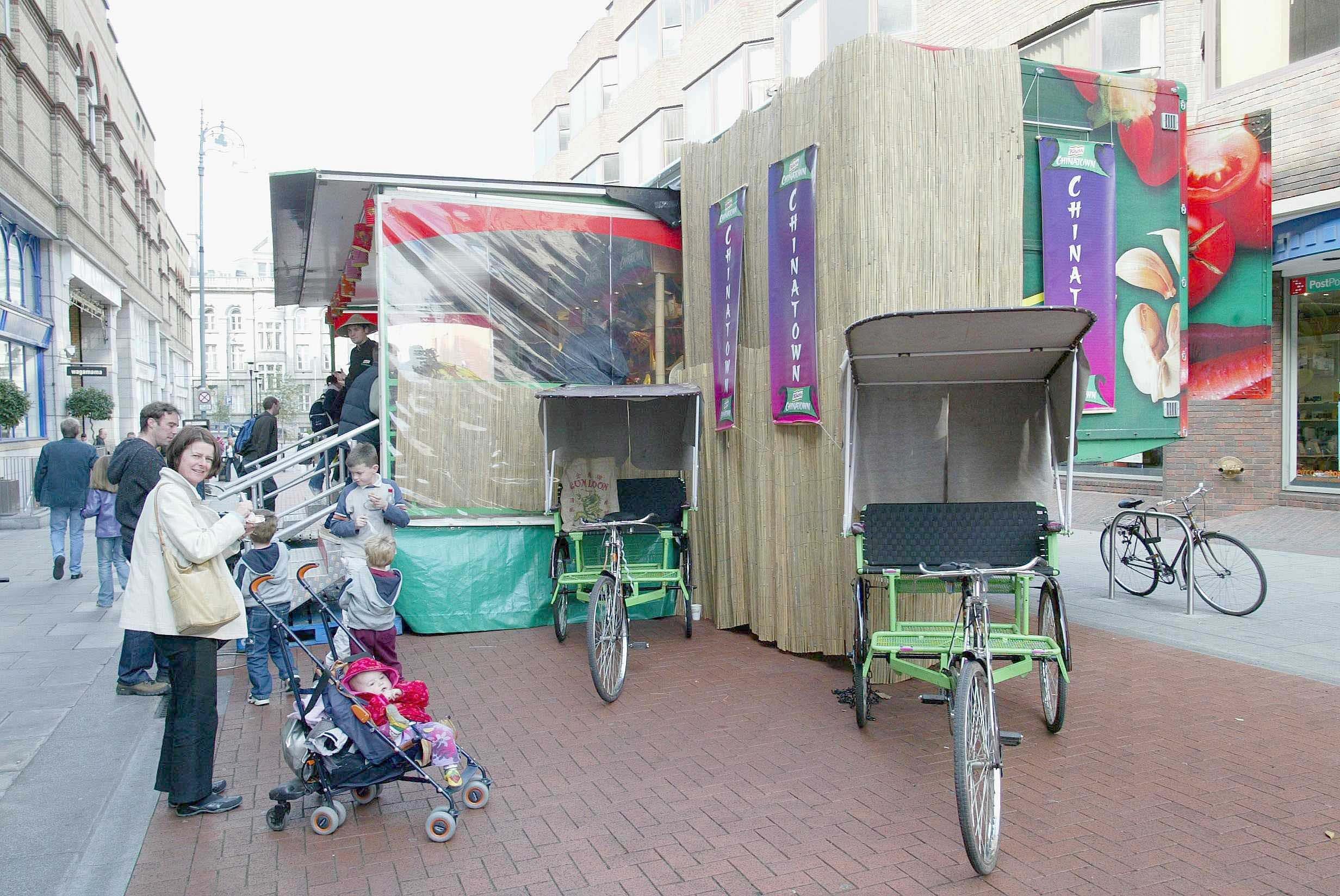 NARI's rickshaws in Ireland.