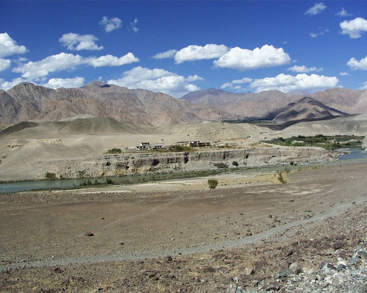 Typical landscape of Ladakh near SECMOL school.