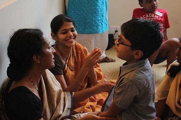 Jayashri (left) at the Ability Foundation.