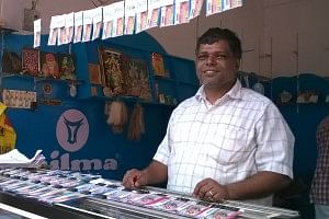 sudhakaran selling lottery tickets
