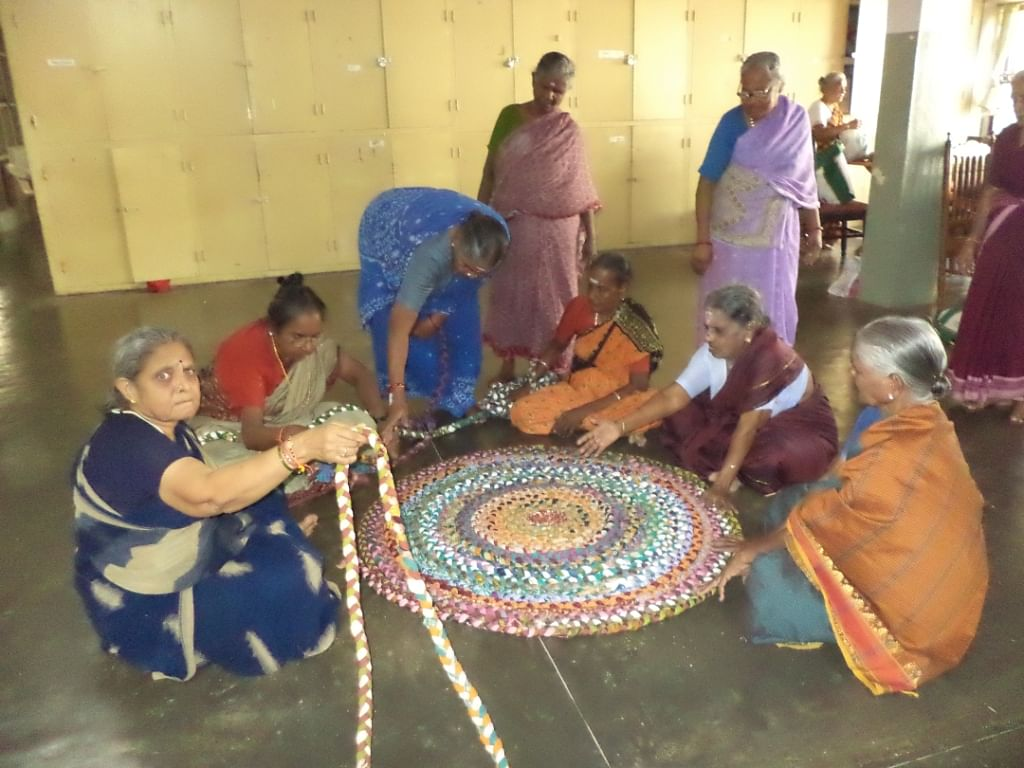 Making hand-crafted products has given a whole new meaning and direction to the lives of these old women. (Credit: Hema Vijay\WFS)