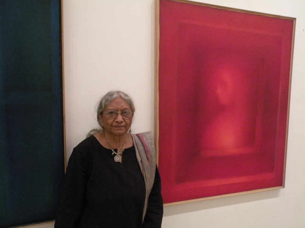 Legendary rebel artist and writer Fatima Ahmed, who is nearing 80, is a picture of contrasts. While she is fun-loving and full of life, her paintings are still and silent. (Credit: Surekha Kadapa- Bose\WFS)