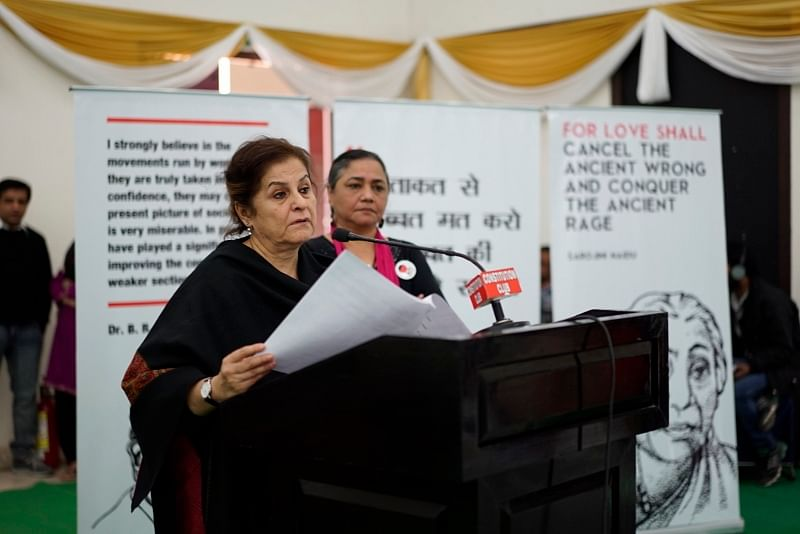 After hearing out the women activist-members Dr Syeda Hameed, former member Planning Commission, lauded their commitment to the betterment of their local communities. (Credit: Taru Bahl\WFS)