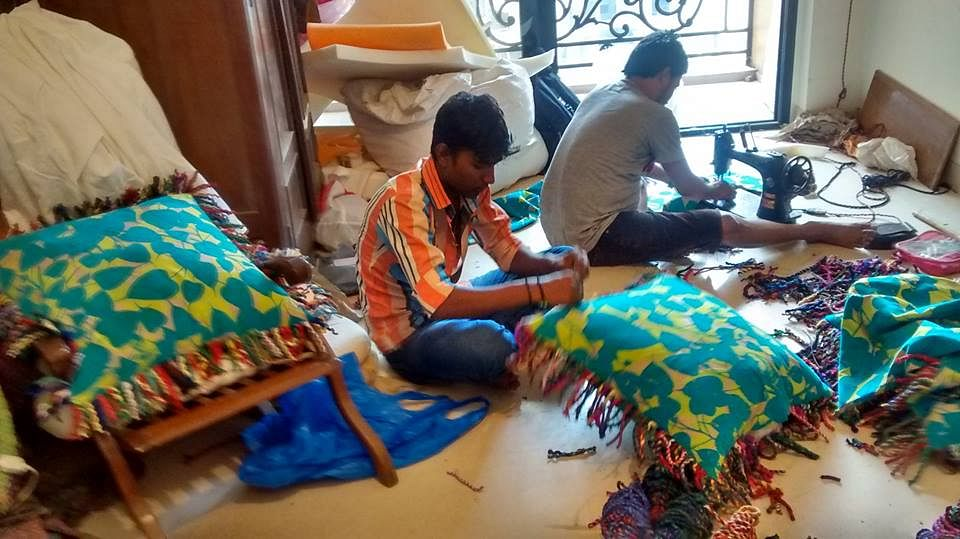 The weavers are given flexibility to work and a free environment to explore their skills.