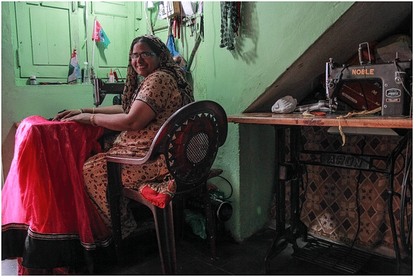 Anjub Shahid from Alirajpur employs two Bhil women.