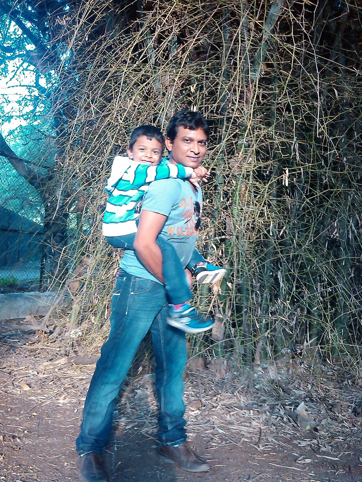 Gopinath with his son.