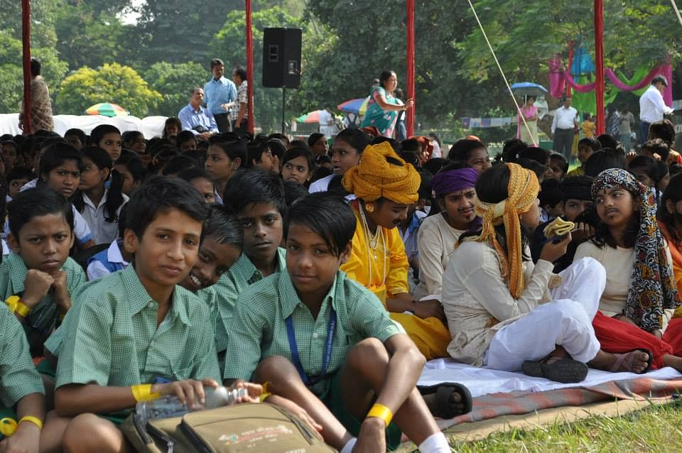 Golpo Mela brings together kids from different schools.