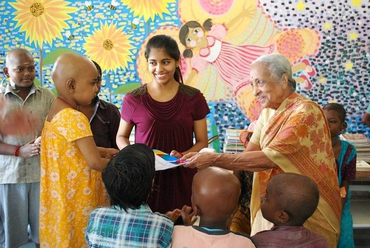 Dr V Shanta, the ever smiling doc, who has been conferred with the Magsaysay Award, cares for the ailing with immense patience and dedication.