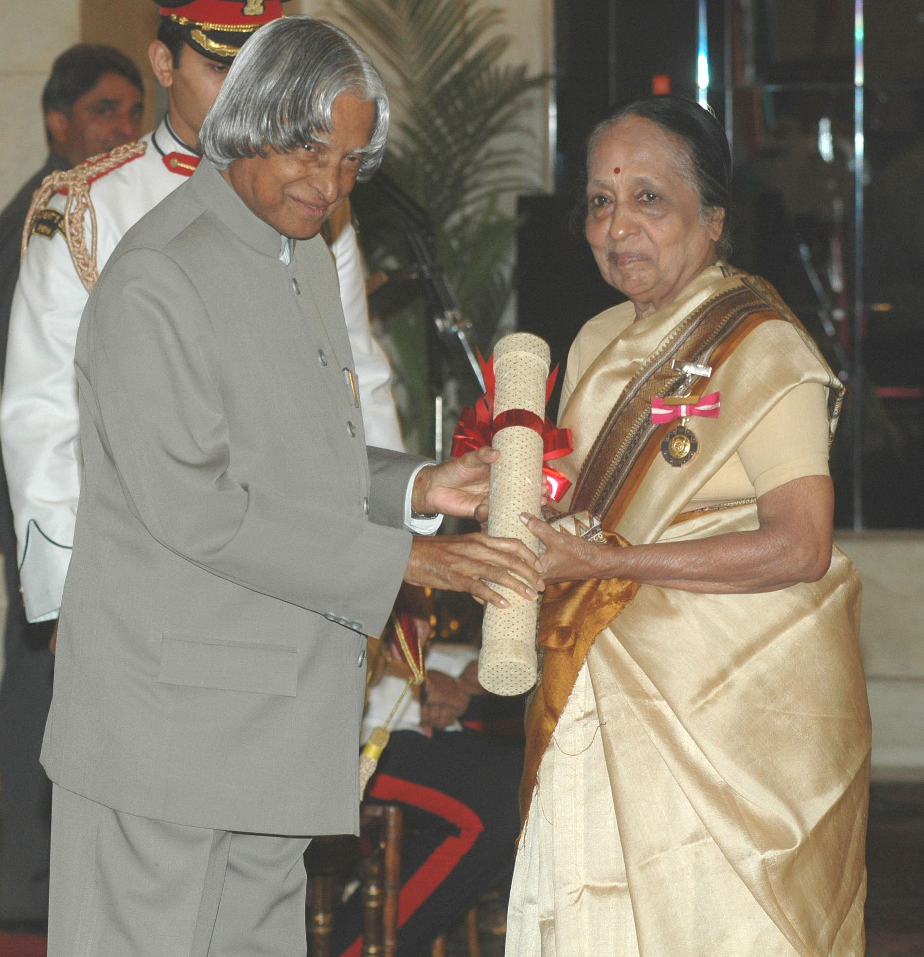 A proud moment for Dr V Shanta when she was conferred with the Padma Bhushan, the third highest civilian award in India.