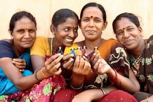 Tsunamika, a rag doll is being hand crafted for 10 years by fisherwomen who survived Tsunami and were living in several relief camps in Auroville, Puducherry.