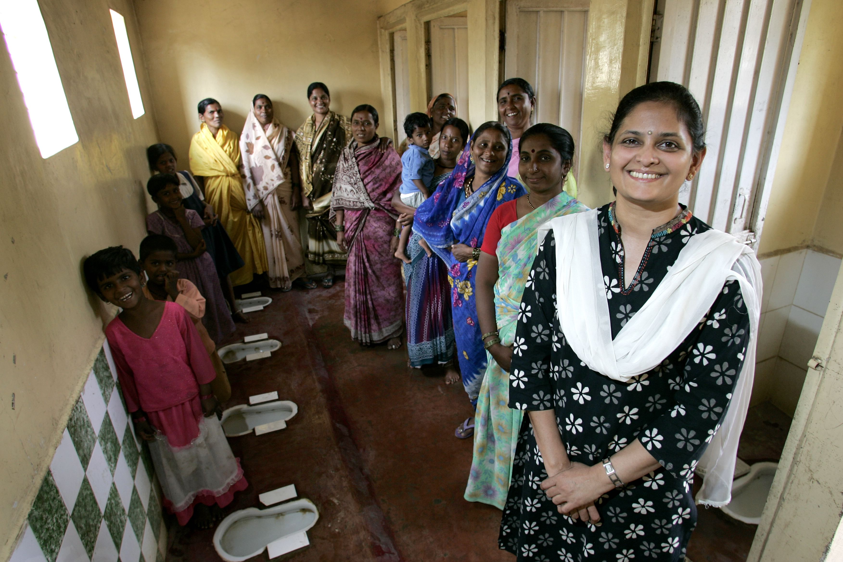 Pratima Joshi (front) spearheaded the initiative to make slums a better place.