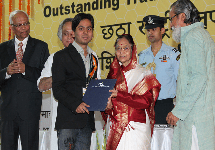 He received the award from former president Pratibha Patil for his amazing innovations.