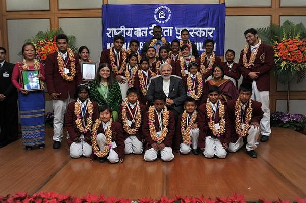 PM Narendra Modi awarded 24 brave kids for their extra ordinary courage.