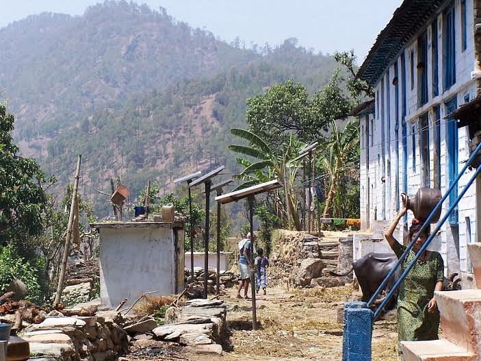 Solar electrified village.