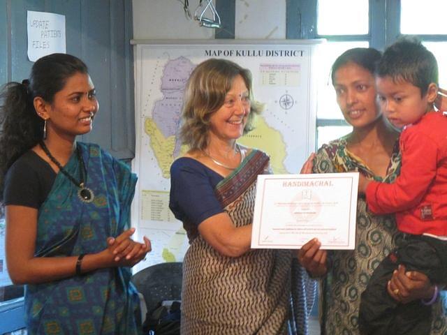 Kaushalya (extreme right) with her kid.