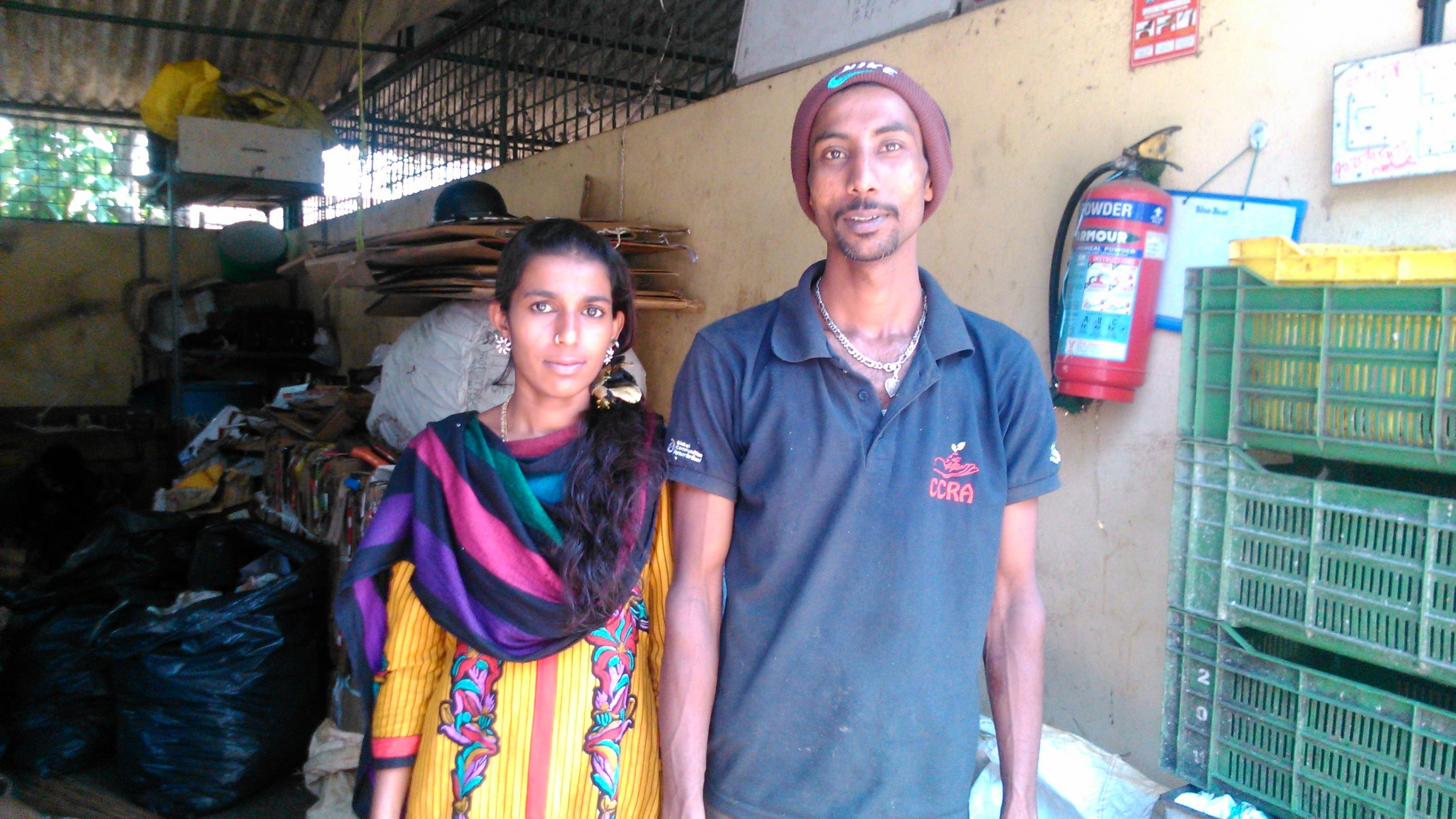 Mansoor with his wife.