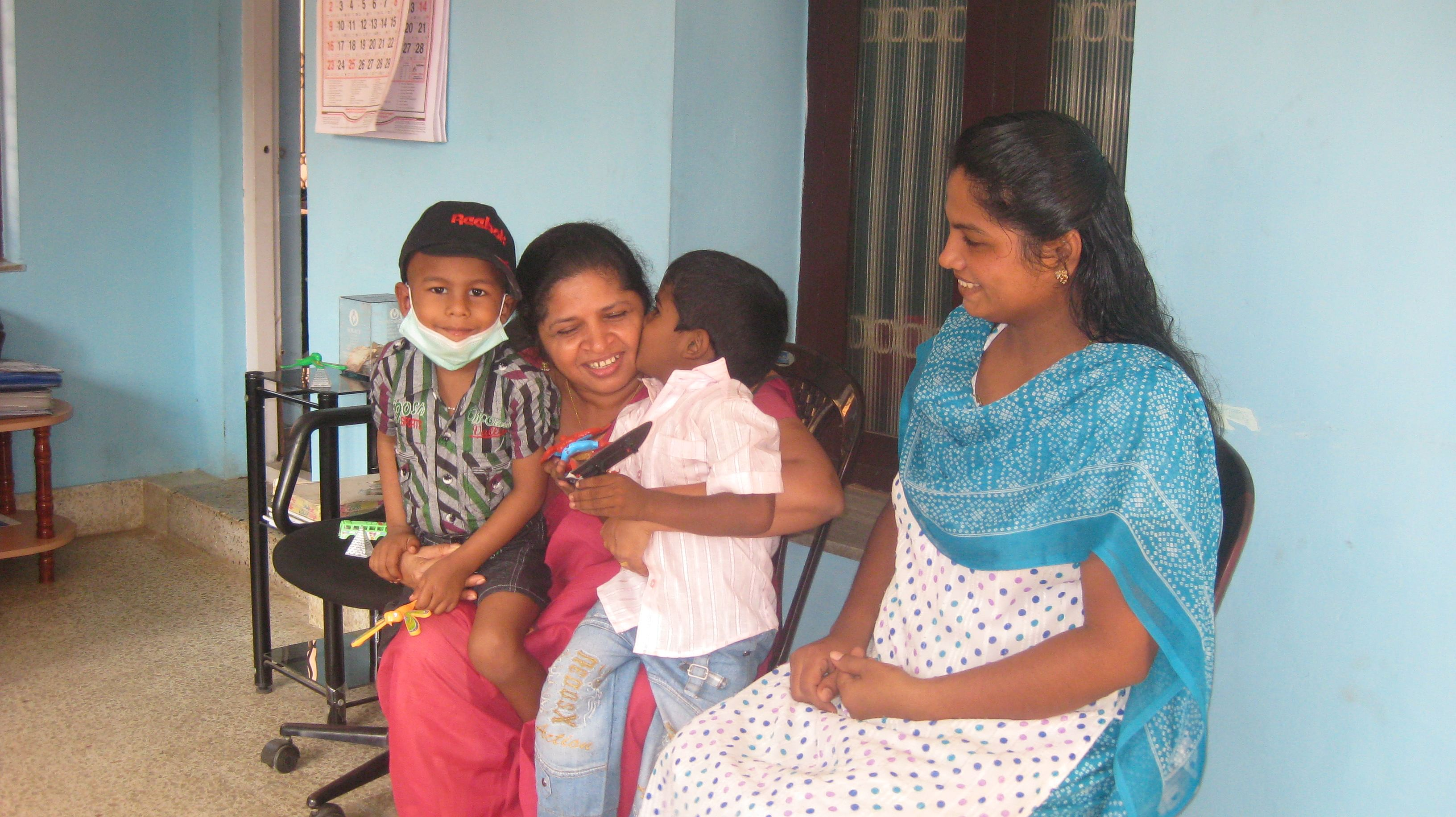 Sheeba not only provides financial and medical help but also counselling to the families.