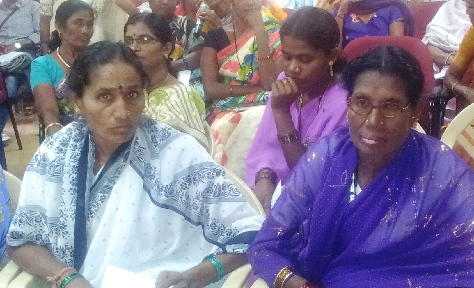 Despite losing their husbands and living a life of drudgery, these women have courageously stood up to regressive traditions to get their lives back on track. (Credit: Pushpa Achanta\WFS)