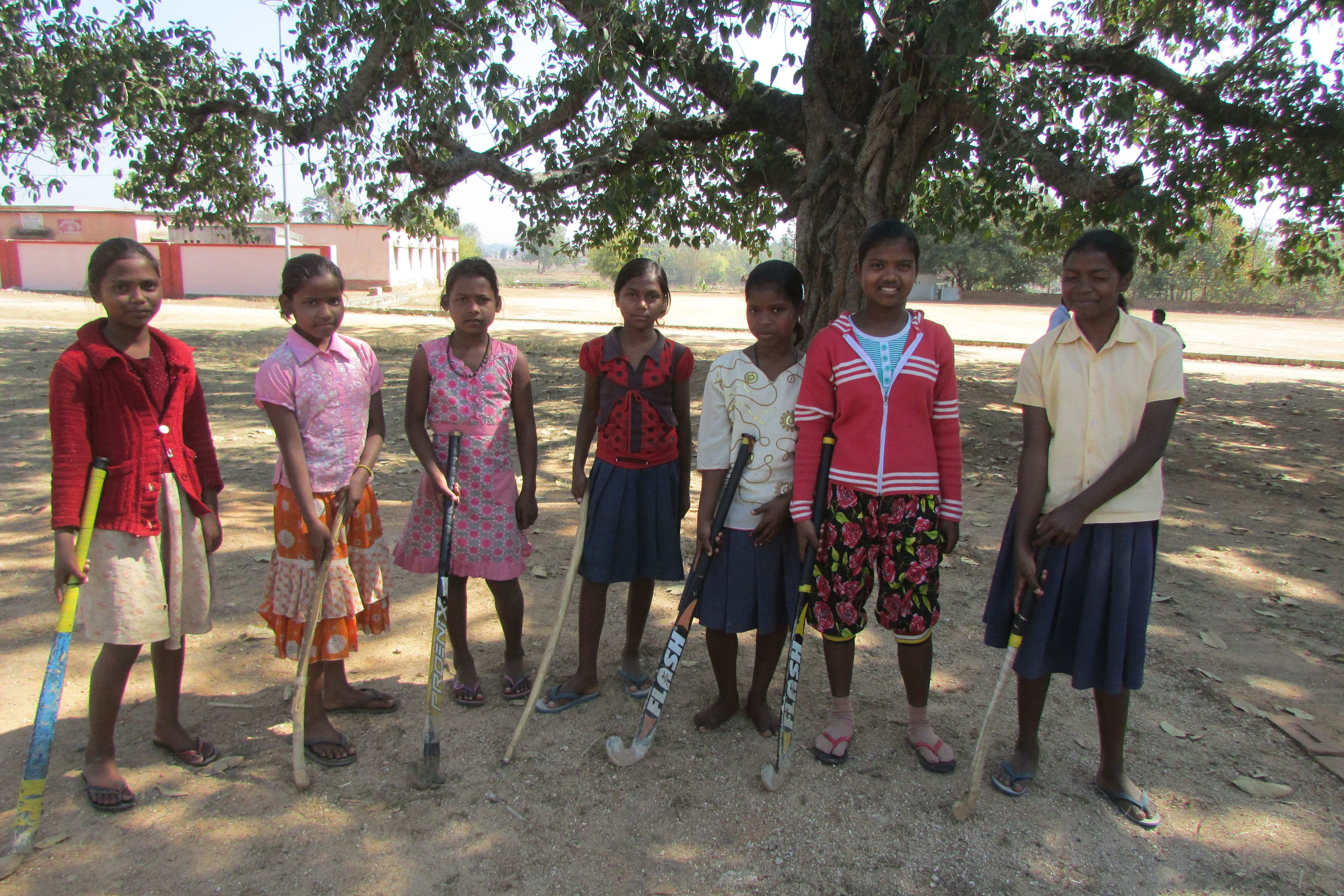 In villages across Sundergarh district teenaged girls who are now proficient in freestyle hockey and cherish the dream of making it big in the professional arena and represent India internationally. (Credit: Rakhi Ghosh\WFS)