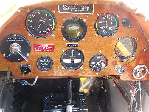 Dehavilland Gypsy Moth Cockpit - 1929