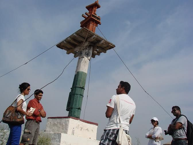 Vinay at Srirangapatna with a group.
