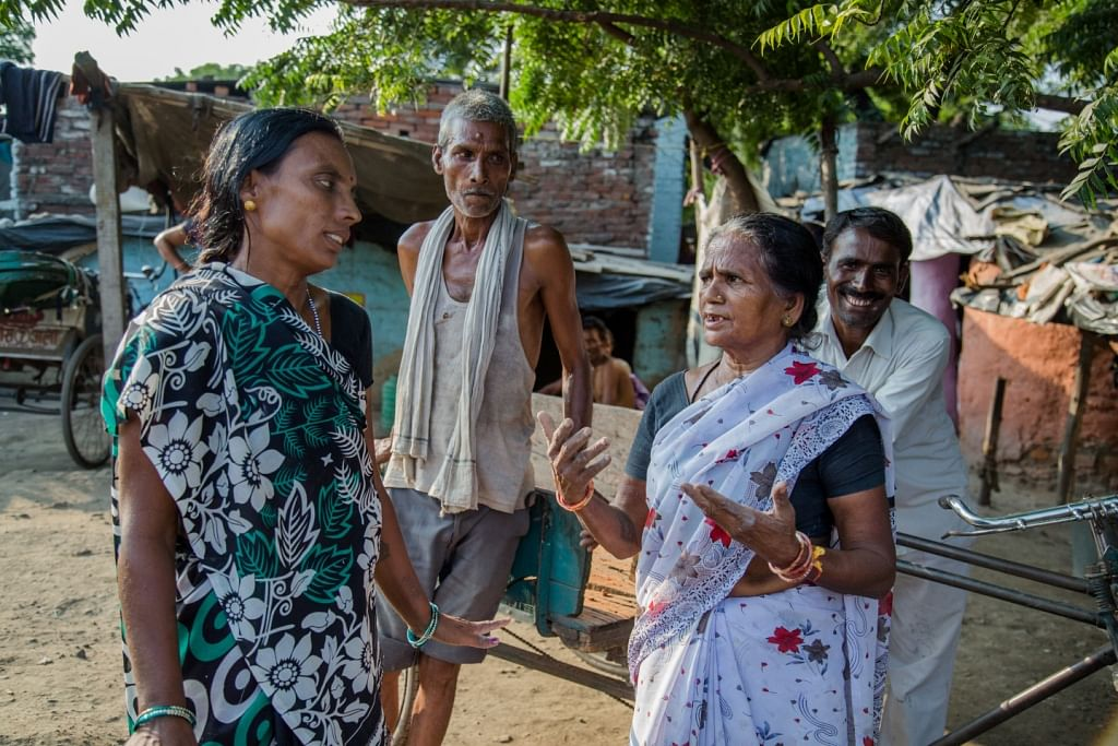 Kalavati Devi (right), the 55-year old resident of Kanpur, Uttar Pradesh, has made it her mission to build toilets across all slums and lower income neighbourhoods in her city. (Credit: Alka Pande\WFS)