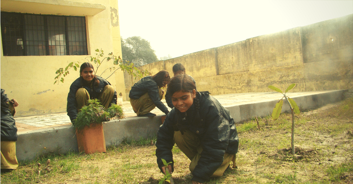 Prachi and her friends first started removing the weeds from the ground.