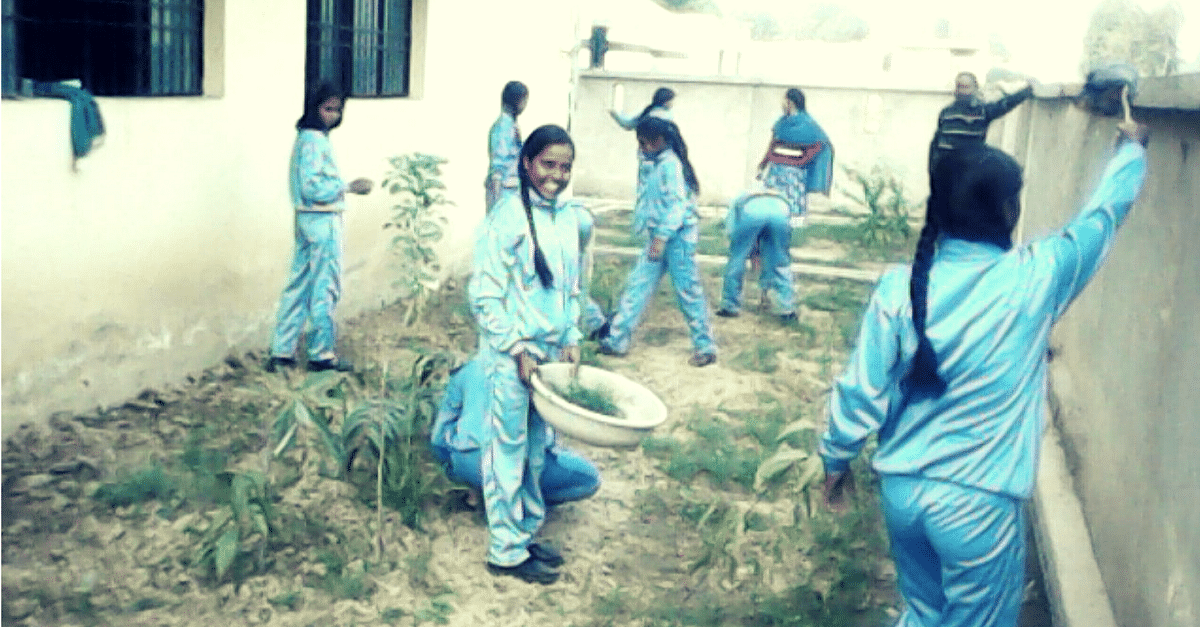 Thanks to the girls' efforts, the school is transformed.
