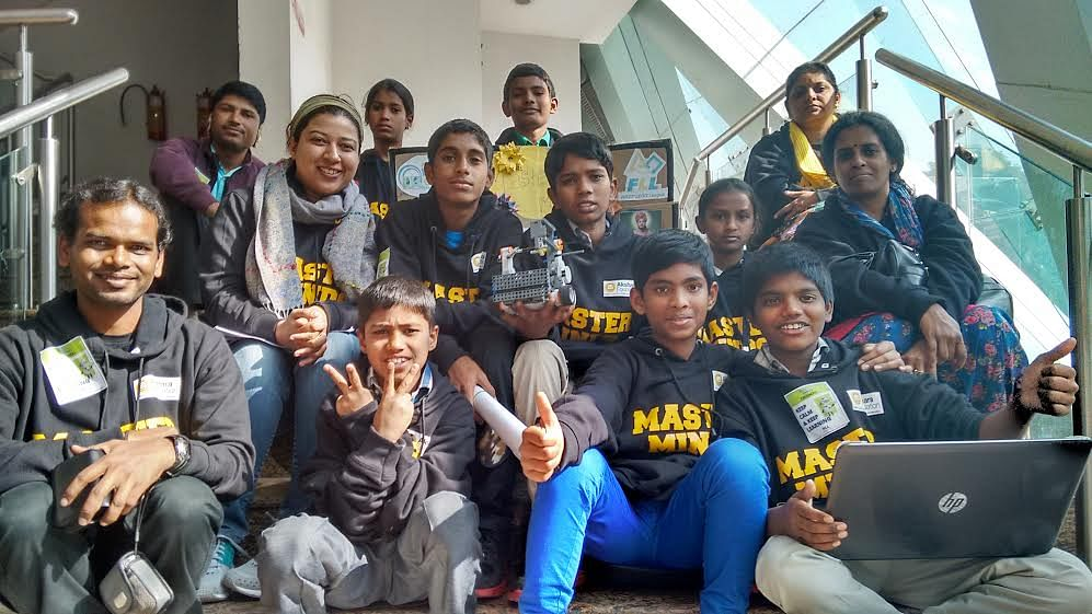 Robotics team in Delhi.