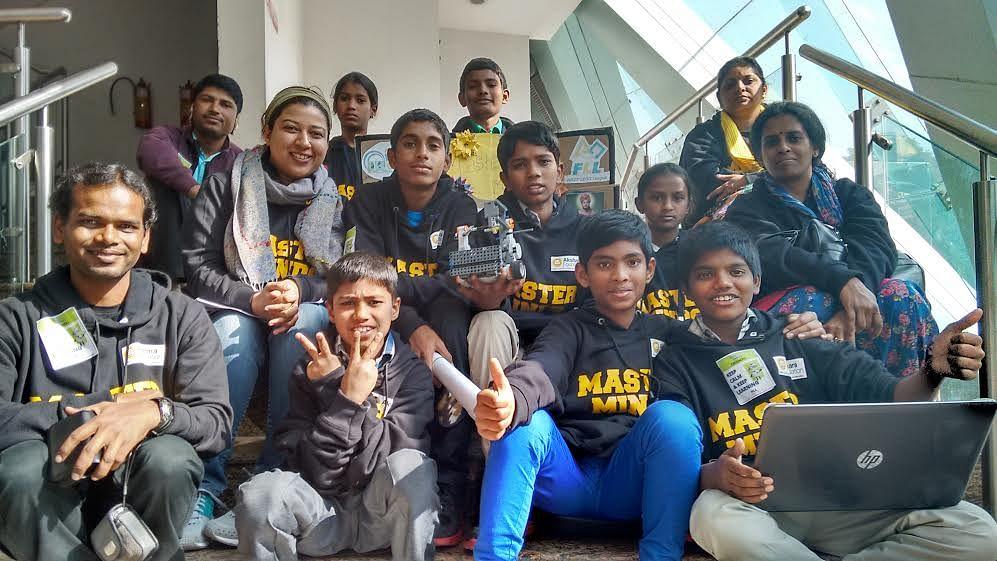 Robotics team in Delhi.