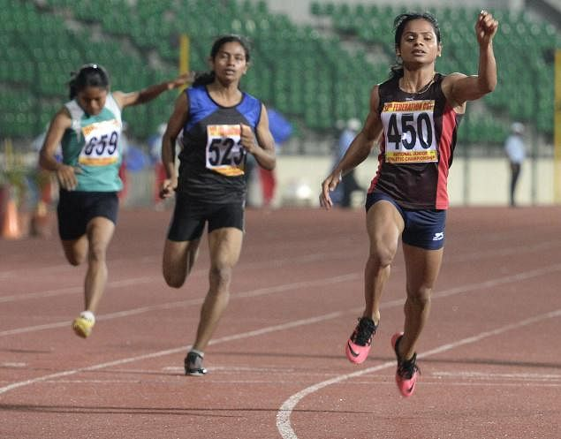 Dutee took the lead in the fight against gender scrutiny and discrimination as well (Image Credit: FairnessForDuteeChand Facebook page)