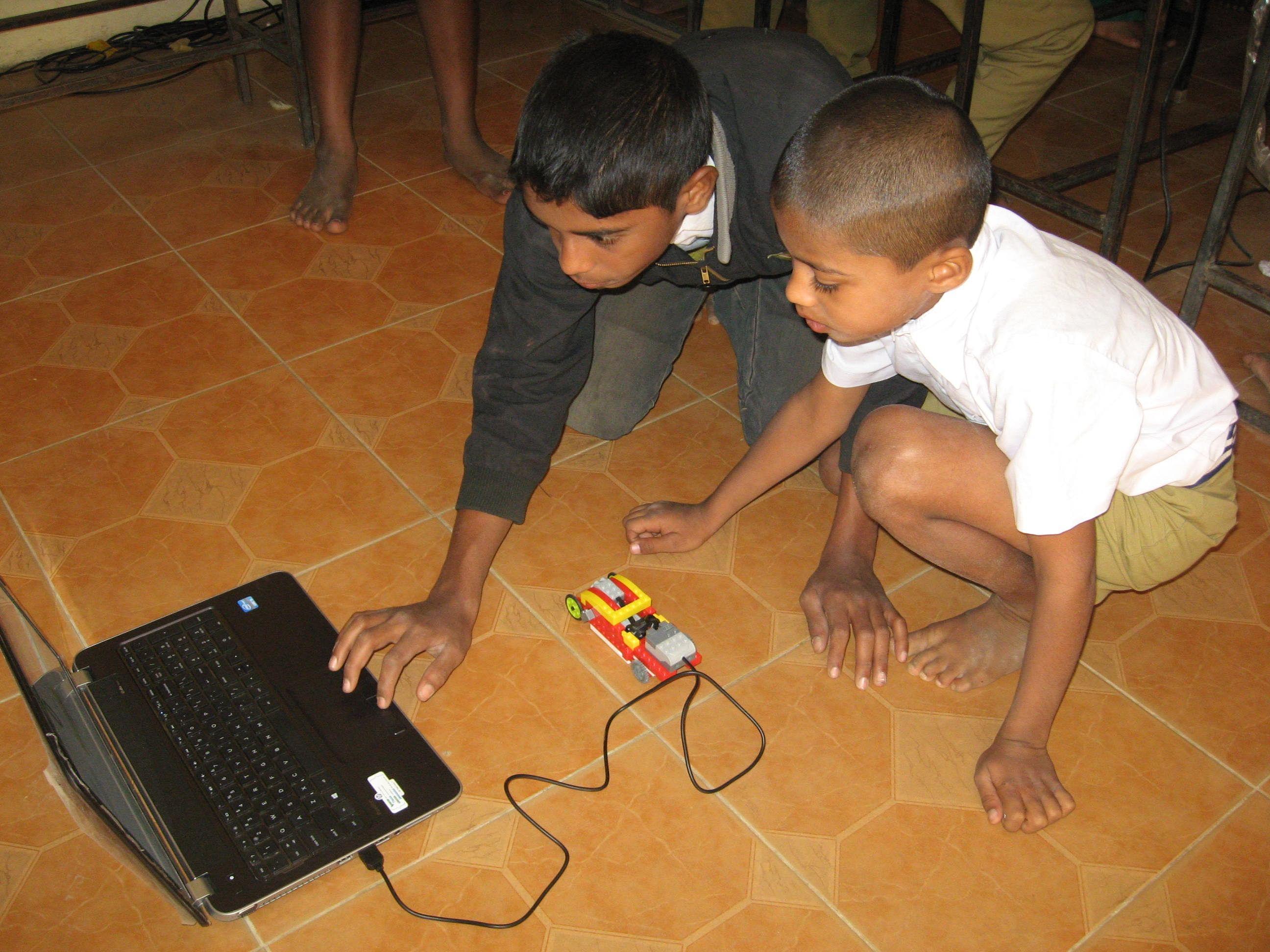 On Laptop