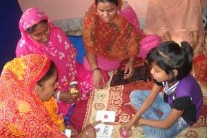 A Parents skills training session at VAANI's Sadhan centre, Kolkata.