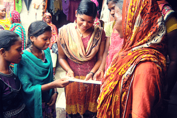 #Bihar girls teaching family planning