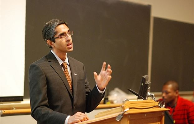 Dr.Vivek Murthy speaking at the 10th year Yale