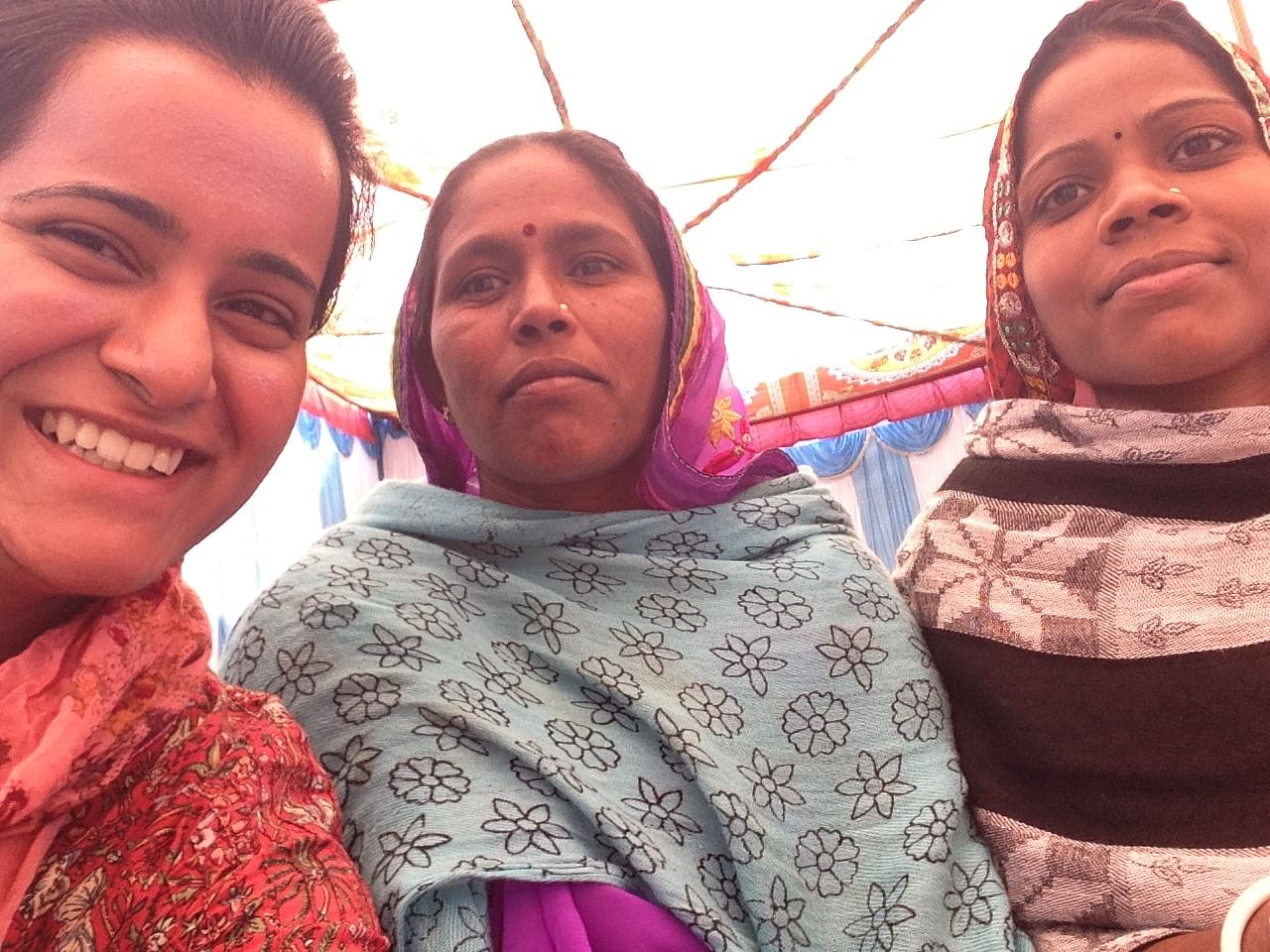 Nupur is working with the rural community to make biomass briquettes.