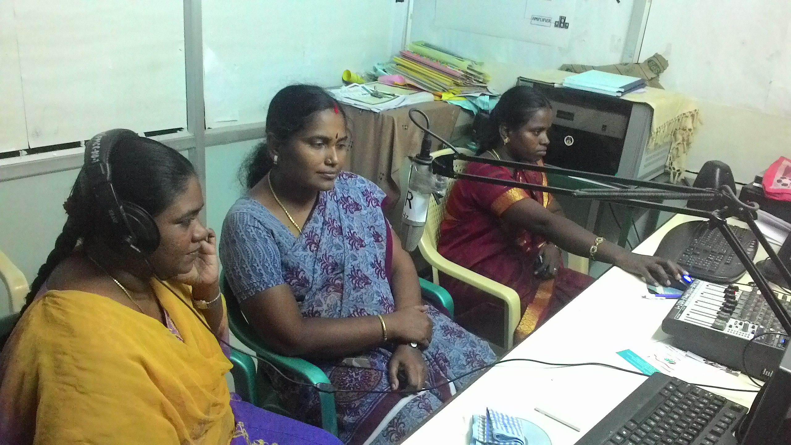 Periyar Community Radio airs programmes, which reinforce the social impact of activities that combat poverty and exclusion or promote women's health and education. (Courtesy: Periyar Community Radio)