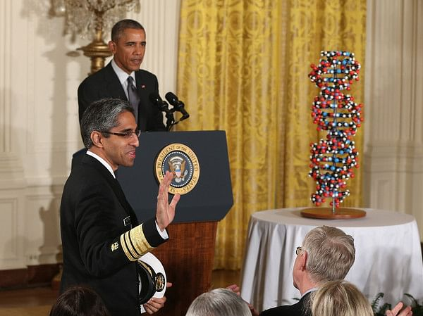 Dr. Murthy with President Obama