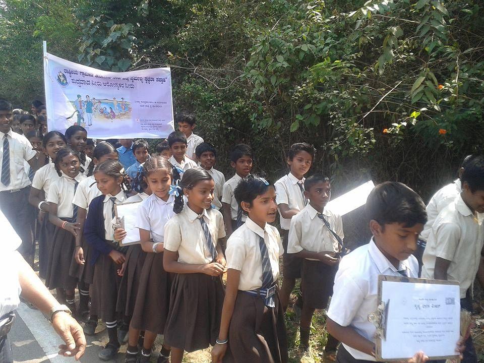 Rally by Gram Panchayat in Kadagadalu (Karnataka)
